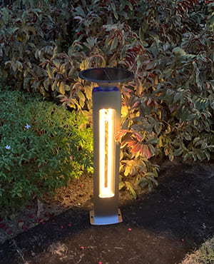 LIGHTHOUSE 80CM SOLAR BOLLARD
